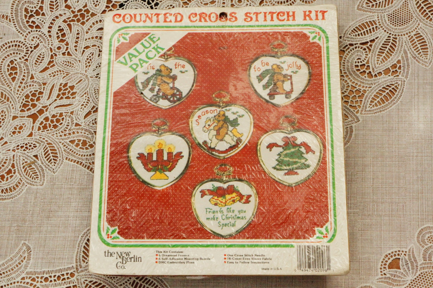 Vintage s unopened christmas ornaments embroidery kit craft