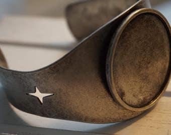 Blank Round Cuff Bracelet / Industrial / Steampunk