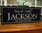 Top Seller Carved Family Name Sign Last Name Personalized Family Plaque 7 x 16