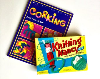 Knitting Nancy - Corking Set - Spool Knitting - Bizzy Lizzy - Peg Knitter - French Knitting Doll