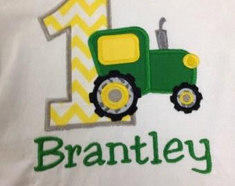 Tractor Birthday Shirt, Farm, twins