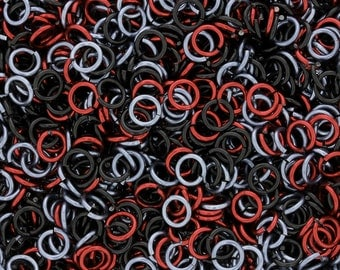 Jump Rings - 18-gauge (AWG) Guns and Roses Anodized Aluminum Jump Ring Mix - 1 Ounce - Pick Your Size!!