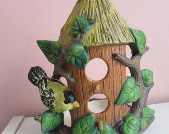 Birdhouse Candle or votive holder