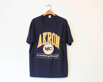 Vintage Blue University of Akron Volleyball MAC T Shirt