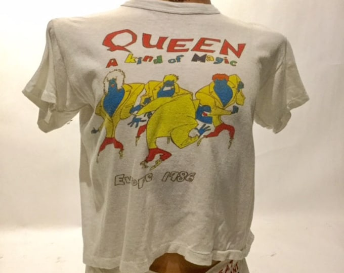 Vintage Queen A Kind Of Magic Europe 1984 Tour Tee Shirt (os-ts-92)