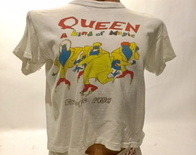 Vintage Queen A Kind Of Magic Europe 1984 Tour Tee Shirt (ds-ts-23)