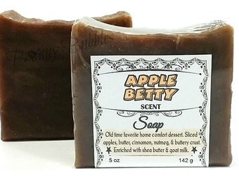 APPLE BETTY soap - rustic style handmade savon - HP by Bonny Bubbles