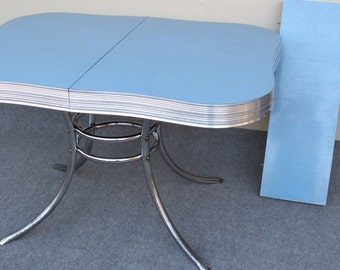 Vintage Blue Formica Table Local PICK UP ONLY