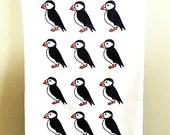 Puffin Tea Towel, Puffin Cloth, Birds, Gifts For Mum, For Her, Kitchen Accessories