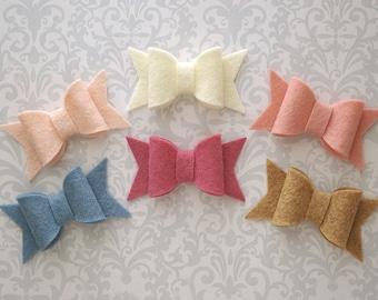 Felt Bow Hair Clip, Pick A Color, Felt Bows, Hair Bow, Felt Hair Clip, Mini Bow, Baby Bows, Girls Hair Bow, Toddler Hair Bows, Toddler Bows