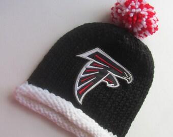 ATLANTA FALCONS, Hand Knit Baby Hat, Football Baby Hat, Baby Hat, Falcons Baby Hat, Atlanta Baby, Falcons Baby, Falcons Baby Hat