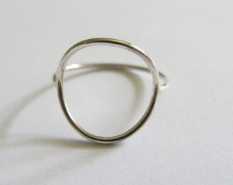 Sterling silver negative space circle ring