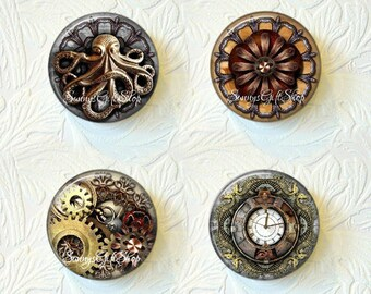 Steampunk Gears and Metals Magnet Sets Your Choice of 4 Different Sets Buy 3 Sets Get 1 Set Free 516