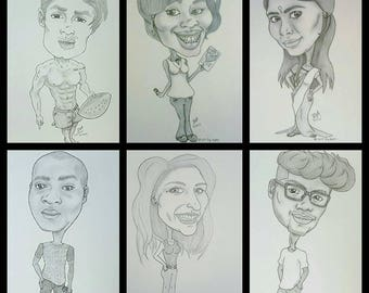 Personalized Pencil Caricatures