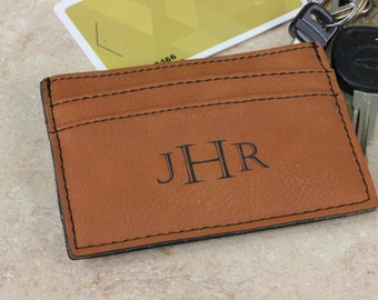 Personalized Money Clip, Leather Money Clip, Rawhide Money Clip, Credit Card Holder, Monogramed Money Clip, Monogramed Leather Money Clip