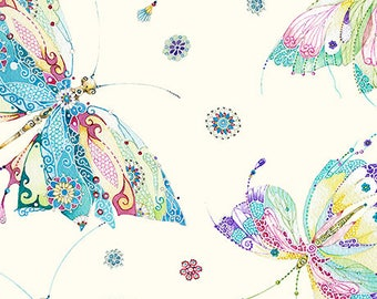 Mariposa from Quilting Treasures - Full or Half Yard Butterflies and Dragonflies
