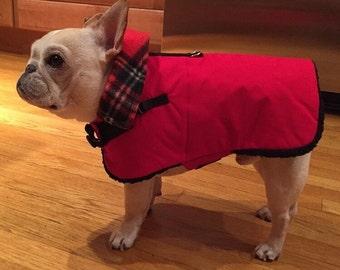 Red Waterproof, insulated, breathable fleece Lined  Dog Winter Jacket, Dog Coat, Dog Jackets, Dog Jacket