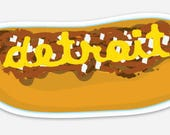 Detroit Coney Dog Sticker