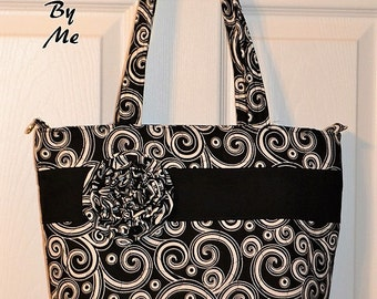 Quilted Purse Bag Tote with Zipper Closure CUSTOM MADE by Quilted Creations By Me