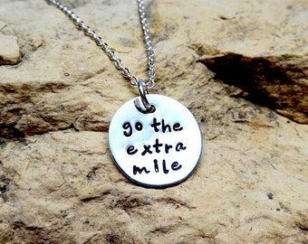 Go the extra mile sterling silver charm