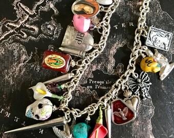 Dia de los Muertos charm necklaces