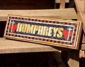 RESERVED LISTING for Stacey Humphreys - Custom Mosaic Sign / Plaque - Name, Address, Save the Date - Indoor / Outdoor Signs