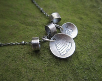 Sterling Silver Honey Bee Charm Necklace for Bee Lovers and Bee Keepers, Apiary Necklace