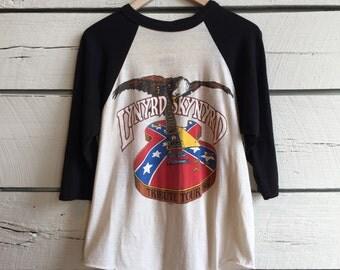 Vintage 1980s LYNYRD SKYNYRD tribute tour band rock shirt