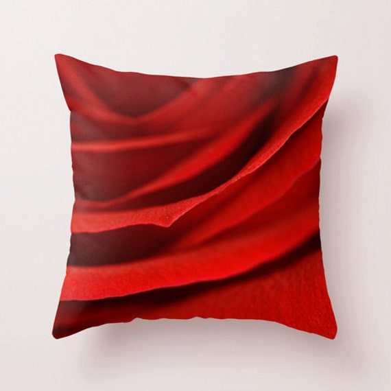 Red Throw Pillows For Bed : Red Rose Pillow Cover Red Decorative Throw Pillows For Bed