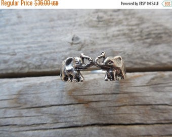 ON SALE Elephant ring in sterling silver