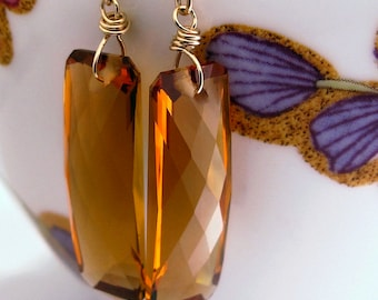 18k Citrine Earrings