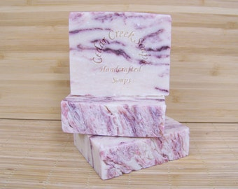 Peppermint Candy Cane Soap Candy Cane Cold Processed Soap Vegan Soap