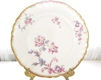 Antique Limoges Plate  Wedding China Serving Dessert Plate from AllieEtCie
