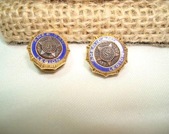 Vintage American Legion Buttonhole Pins.