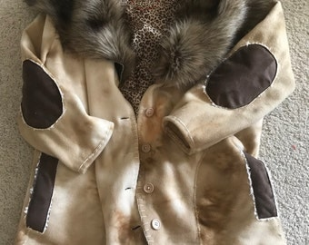 Rustic fleece jacket XL