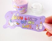 You Light Up My Life unicorn sticker