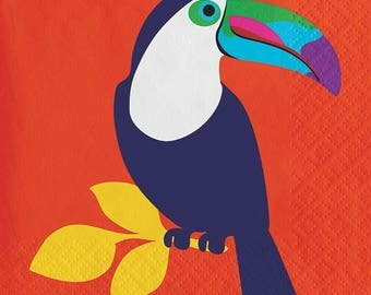 CLEARANCE Tucan Tropical Beverage Napkin- pack 20