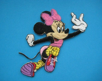 Iron-on Embroidered Patch Minnie Mouse 4 inch