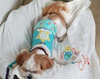 Pet Blanket-Custom Embroidered-You Are My Sunshine
