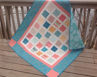 Simply BRIGHT SUN 54x60 quilt in pastel desert colors