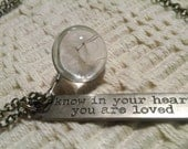 Know in Your Heart You are Loved Wish Necklace...FREE Shipping in the USA