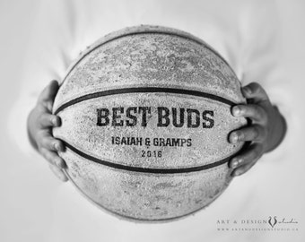 Grandfather Christmas Gift, Personalized Gift Idea for Men, Gifts From Grandson For Grandfather, Basketball Sport Print, Custom Gift for Him