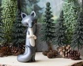 Gray Wolf Figurine by Bonjour Poupette