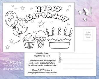 Printable Birthday Cards, Birthday Printable Invitation, Birthday Cards Printable Postcards, Birthday Postcards Printable