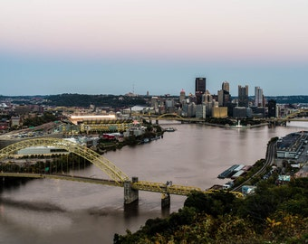 West End View, Pittsburgh Skyline, Pittsburgh Art, Fine Art Color Photography, Pittsburgh decor