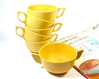 Melamine Picnic Pieces - 5 Cups, 1 Sugar Bowl