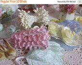 Store Closing SALE Vintage Millinery Flowers-Lily of the Valley-Pink-Hats-Easter-Derby-Supplies
