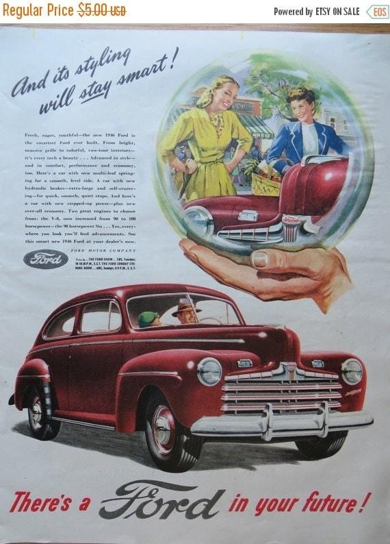 ON SALE Vintage Magazine Ad 1945-Paper-Ephemera-Ads-FORD