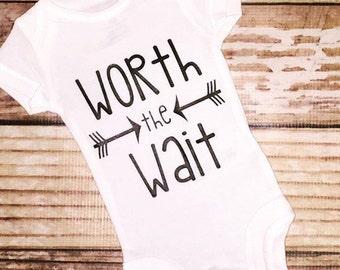 Worth the wait adoption IVF shirt top bodysuit