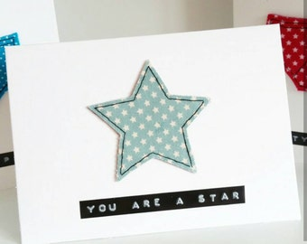 You are a star well done card, congratulations card, graduation card, new job, driving test